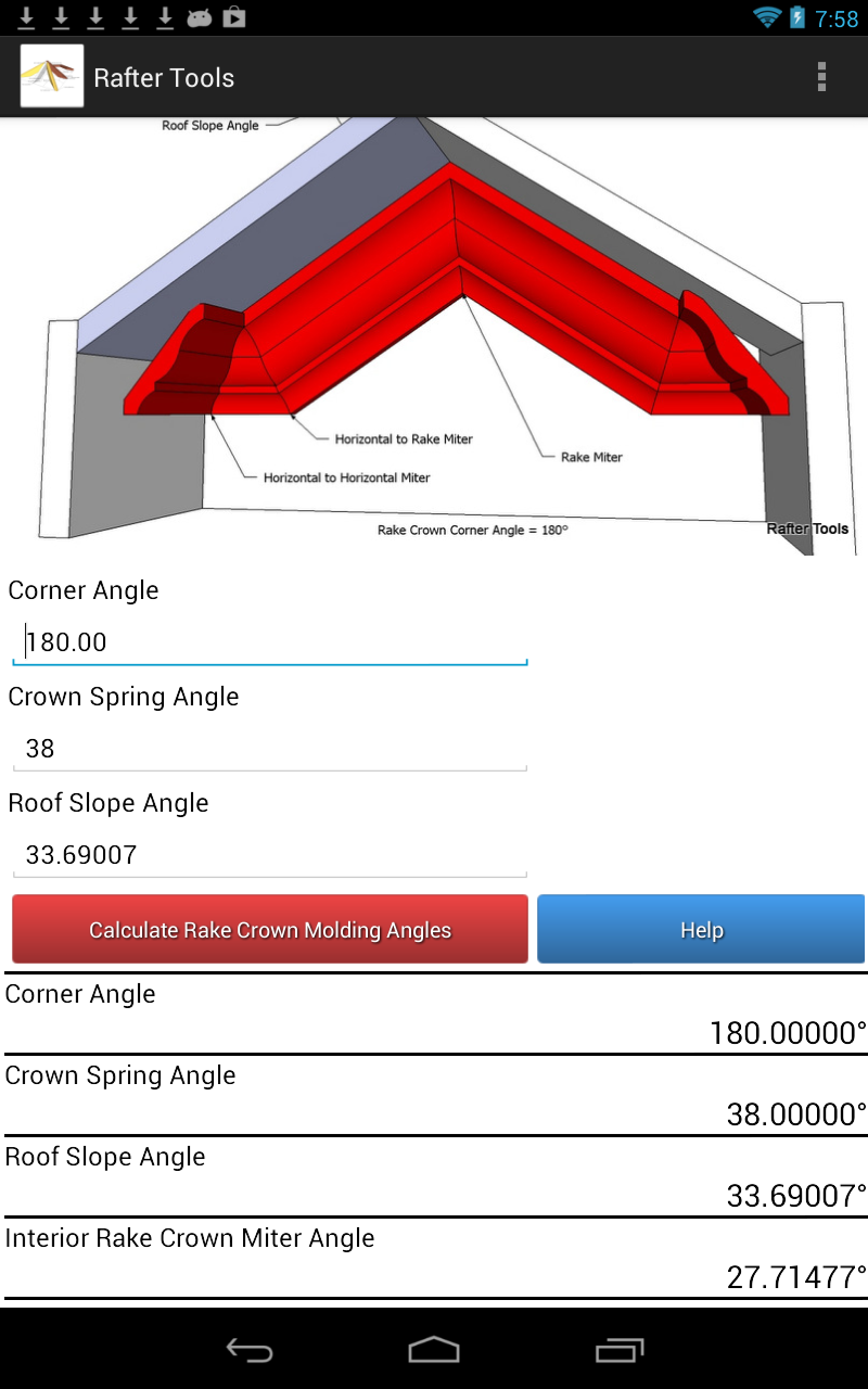 Crown Molding Tools For Android Calculator Crown Molding Miter And